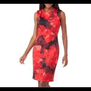 Calvin Klein Floral Printed Sheath Dress